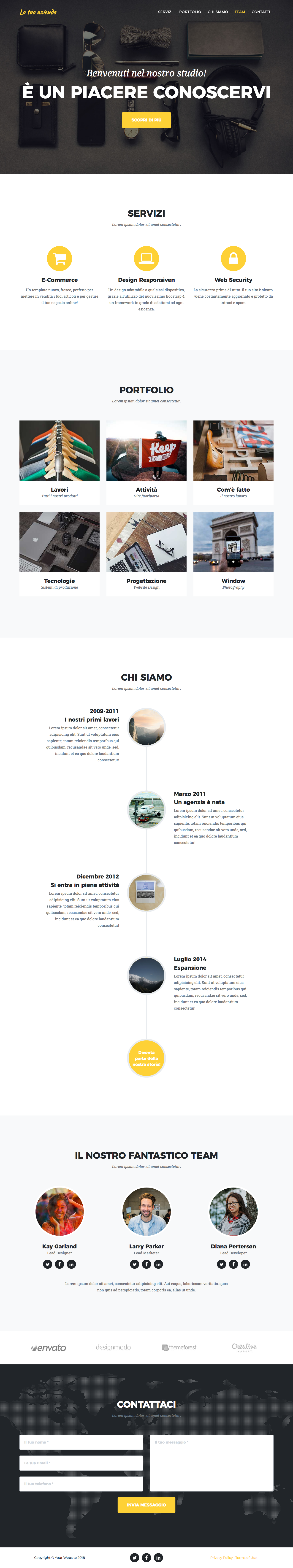 Agency – Sito One Page